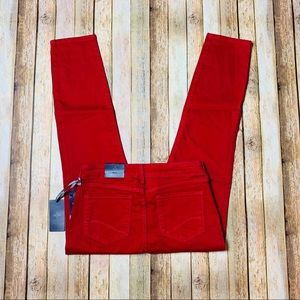NEW! NYDJ Women's Ankle Red Corduroy Pants Size: 4